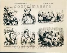 1952 Artist Drawings History of Valentines Harper's Weekly 1858 Press Photo