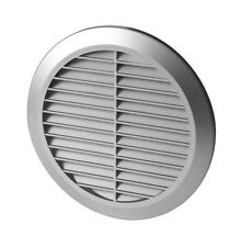 Satin Round Air Vent Grille Adjustable Ducting Connection Anti-Insect Mesh T36SS