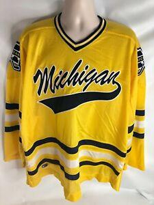 Stunning University of Michigan Hockey Team Jersey Cliff Keen Vintage Unissued!