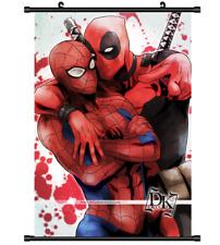 Spider-Man Deadpool Marvel Anime manga Home Decor Poster Wall Scroll 40 *60CM