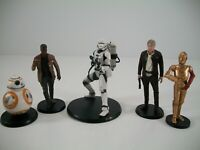 "Disney Parks Star Wars 3.75"" Cake Topper Figurines Lot - BB-8 C-3P0 Han Solo"