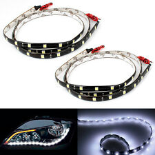 2x Strips LED Lights Flexible Lamps For Car Decoration DRL Fog Headlight Tuning