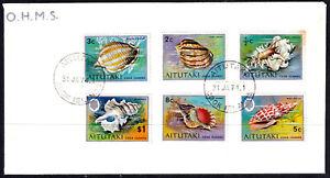 Aitutaki 1974 OHMS Corals And Seashells Part Set FDC- Mint