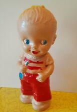 Irwin rubber squeak doll vintage 1950s Kewpie girl