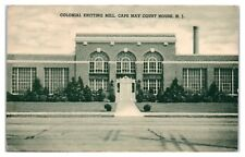 1938 Colonial Knitting Mill, Cape May Court House, NJ Postcard