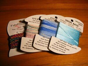 Rainbow Gallery Needlepoint Embroidery Embellishment Thread Lot of 4 variety