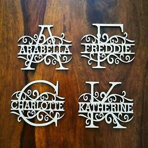 Personalised Wooden Monogram Letters Words  Craft Wedding Mdf  wall art splitMb