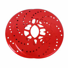 2X Red Universal Auto Car Wheel Decorative Brakes  Disc Brake Racing Cover 10.2""