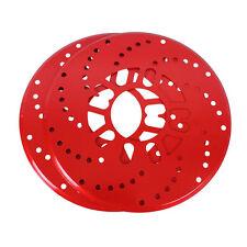 "2X Red Universal Auto Car Wheel Decorative Brakes  Disc Brake Racing Cover 10.2"""
