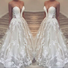 Charming Lace A-line Wedding Dresses Sweetheart Appliques Country Bridal Gowns