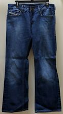 DIESEL ZATHAN Men's Bootcut Blue Denim Cotton Jeans 32x30 Button Fly EXCELLENT