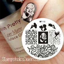 Marilyn Monroe Nail Art Image Plates Stamping Template Manicure Born Pretty BP15