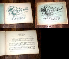 Menam-valse une soirée à Bangkok partition piano 1893 Fusco signé par l'auteur