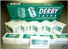 Derby Extra * 100 Rasier Klingen mit Platin beschichtet einzeln abgepackt 20x5