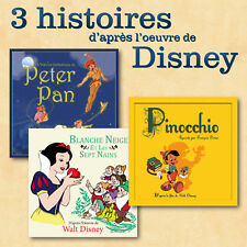 CD 3 histoires Disney Blanche Neige Peter Pan Pinocchio
