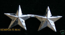 1 TWO 2 STAR MAJOR GENERAL ONE PIN US MARINES NAVY O-9 HAT LAPEL COLLAR RANK WOW