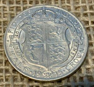 1915 George 5th Silver Halfcrown 0.9250 NVF