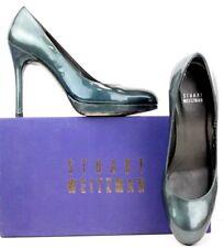 Stuart Weitzman Pumps size 7 M Blue Green Patent Leather High Heels WF19 FW275*