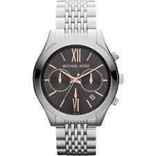 Michael Kors MK5761 Brookton Silver Steel Ladies Chronograph Watch RRP £259