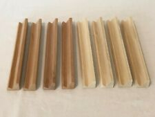 Scrabble Wooden Tile Racks Lot of 8 Square Edge Wood Board Game Replacement Part