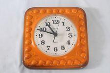70er diseño cerámica reloj de pared reloj naranja