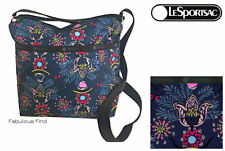LeSportsac Evening Blues Small Cleo Crossbody Handbag Free Ship NWT D987 Floral