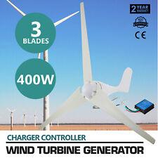 Wind Turbine Generator DC 12V 400W 3 Blades Windmill Power Charge Controller