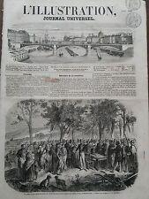 L' ILLUSTRATION 1856 N 719  LE PREFET D'ALGER DISTRIBUANT LES LOTS DE TERRAIN