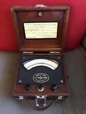 Weston D. C. Microammeter Model 322 Wood Case