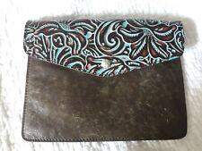 New ListingPatricia Nash Tooled leather Turquoise Envelope Envelope Clutch Case Purse Bag