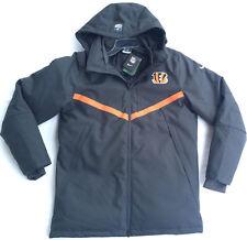 new Nike Cincinnati Bengals NFL Onfield 550 Down Parka Coat Men's M 638929-060