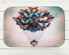 Home Decor Butterfly Balloon Rug Carpet Bedroom/Bathroom Floor Mat 40*60cm Ous