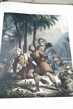 RARE PRECEPTIVE ILLUSTRATIONS of the BIBLE 1839 Folio early lithographs