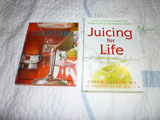 BOOK LOT OF 2 JUICING FOR LIFE BY COLBOM AND PERFECT COCKTAILS VGUC...