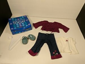 American Girl Doll Clothes Outfit Pants Shirt , Knitted Sweater and sandals