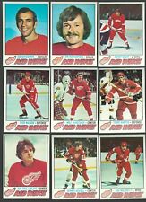1977-78 TOPPS DETROIT RED WINGS + 15 CARD LOT NR-MINT/MINT