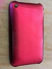 PLASTIC BACK CASE COVER FOR APPLE iPHONE 3 3GS - RED GLITTER DESIGN