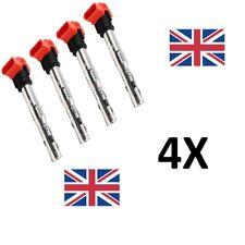4x OEM SPEC AUDI R8 Red Coil Packs Set 2.0TFSI/2.0TSI A3/GOLF 5/LEON 06E905115E