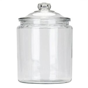 Anchor Hocking 2 Gallon Heritage Hill Jar Vintage Style Glass Storage Jar
