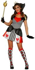 Ladies Sexy Queen of Hearts Alice in Wonderland Book Fancy Dress Costume Outfit