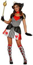 Donna Sexy Regina di Cuori Alice nel paese delle meraviglie libro Fancy Dress Costume Outfit