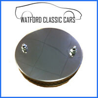 Universal Blank Pancake Stainless Steel Air Filter ,  like chrome