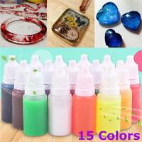 15 Colors 15ml Epoxy UV Resin Dye Colorant Resin Pigment Mix Color DIY Art Craft