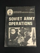 Soviet Army Operations April 1978 Dept of the Army US Intelligence Assessment PB