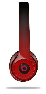 Skin Beats Solo 2 3 Smooth Fades Red Black Wireless Headphones NOT INCLUDED
