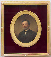 WILLIAM OLIVER STONE Listed NY Artist Signed 19th Century Gentleman Portrait Oil