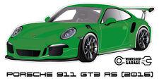 New! Collectable Sticker Porsche 911 GT3 RS 2016 GREEN