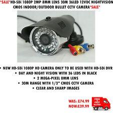 HD-SDi 1080P 2MP 8MM 30M 36LED 12V NIGHTVISION CMOS INDOOR/OUTDOOR BULLET CAMERA