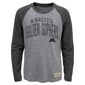 Minnesota Golden Gophers NCAA Boys Grey Pedigree Tri-Blend Long Sleeve T-Shirt