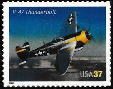 US 3919 Advances in Aviation P-47 Thunderbolt 37c single (1 stamp) MNH 2005